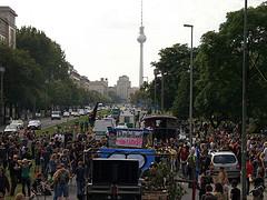 Foto von den Fuckparade 2007 Vorbereitungen von Wolfgang Sterneck