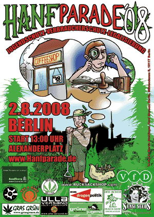 Hanfparade 2008 Flyer