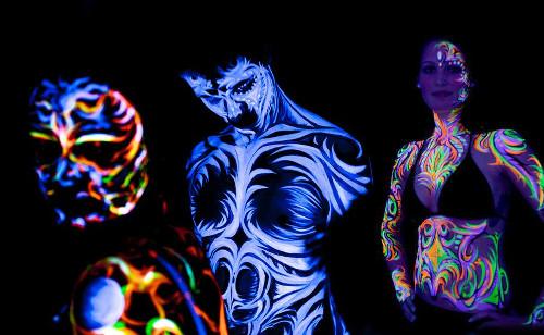 Foto von UV-Bodypaintings