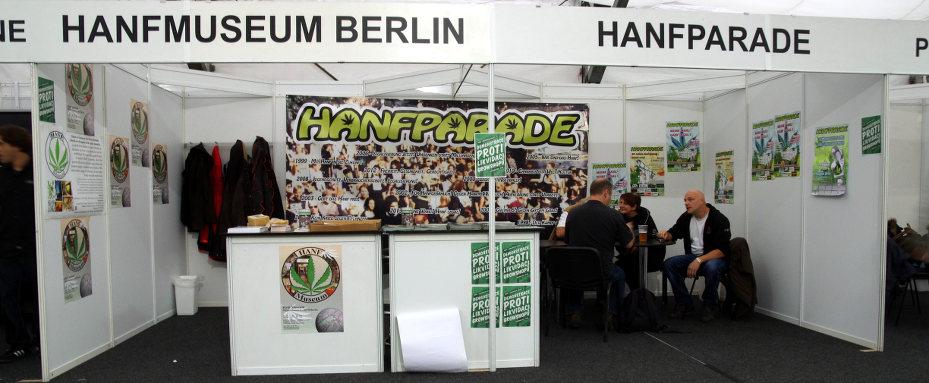 Foto unseres Stands auf dem Cannafest 2013