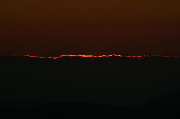 Foto des Phänomens Grünes Leuchten
