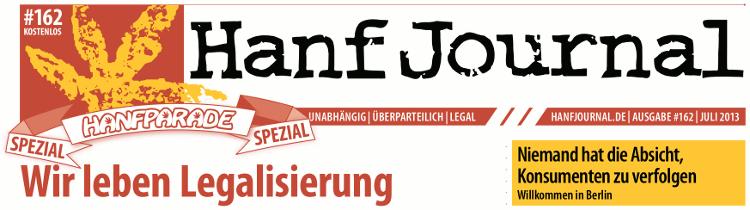 Abbildung: Titelbanner der Hanf Journal Sonderausgabe zur Hanfparade 2013