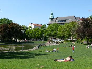 Foto vom Volkspark am Weinberg in Berlin-Mitte