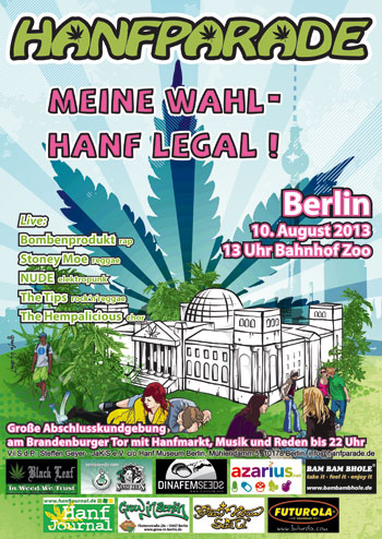 Hanfparade 2013 flyer, first version