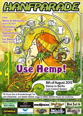Hanfparade 2015 flyer - Use Hemp!