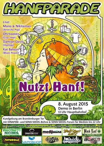 Abbildung des Posters der Hanfparade 2015 von Doro T.