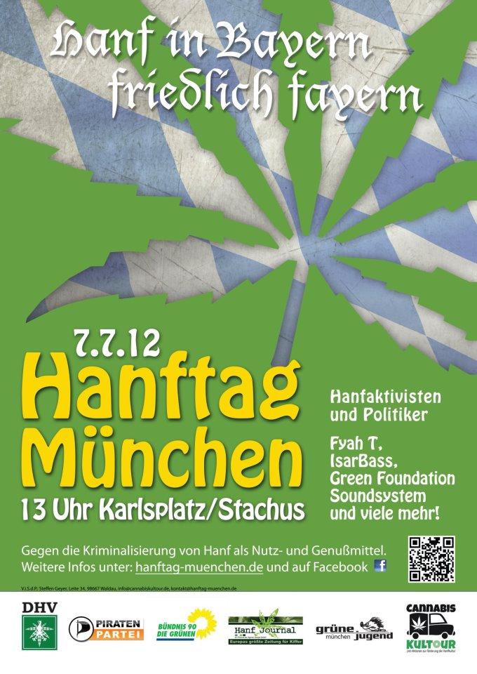 Poster des Hanftags in München