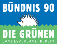 Bündnis 90/Die Grünen Landesverband Berlin Logo mit Igel
