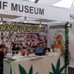 Foto vom Hanfparade- und Hanf Museum-Stand auf dem Cannafest 2015