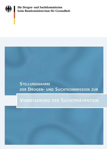 Drogen- und Suchtkommission beim Bundesministerium für Gesundheit (2002): Titelblatt Abschlussbericht Drogen- und Suchtkommission
