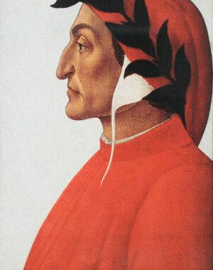 Dante Alighieri im Portrait von Sandro Botticelli