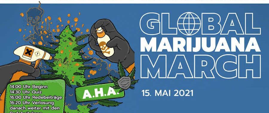 Info Grafik zum GMM Global Marijuana March in Deutschland 2021