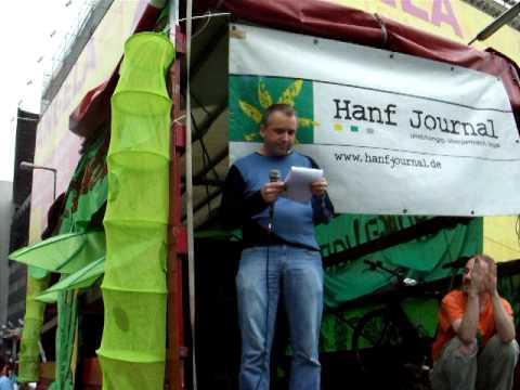 Mauer Rede von Tibor Harrach Bündnis90/Die Grünen auf der Hanfparade 2008 am Checkpoint Charly