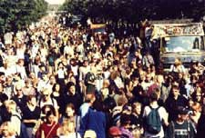 Hanfparade 1999 – Blick über die Demonstration