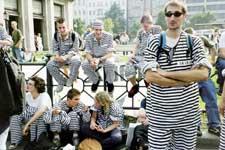 Hanfparade 2002 – Bild von der Sträflingsaktion