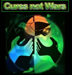 Cures Not Wars Logo  im April 2008