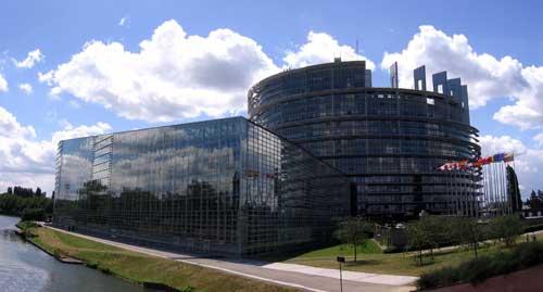 Sitz des Europäischen Parlaments in Straßburg (Frankreich)