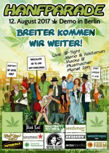 Poster der Hanfparade 2017