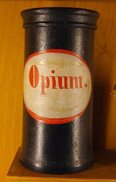 Apothekergefäss für Opium, Wikipedia, Author Bullenwächter