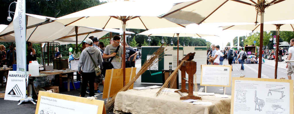 Foto des Nutzhanfareals auf der Hanfparade