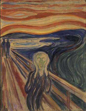 Der Schrei - Gemälde von Munch