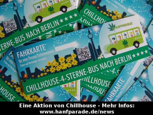 Grafik der Bus-Tickets vom Chillhouse zur Hanfparade 2012