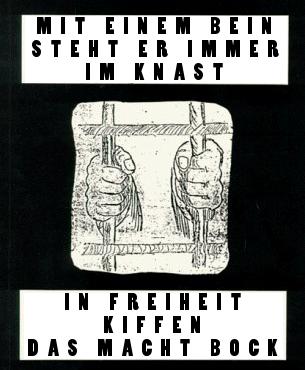 Kiffer im Knast; Grafik aus Bodo Saggel Der Antijurist