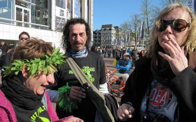 Foto von Hanfaktivisten aus Berlin auf dem AMS 420 Festival