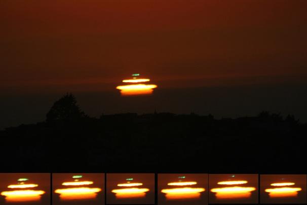 Fotos vom Phänomen Grünes Leuchten