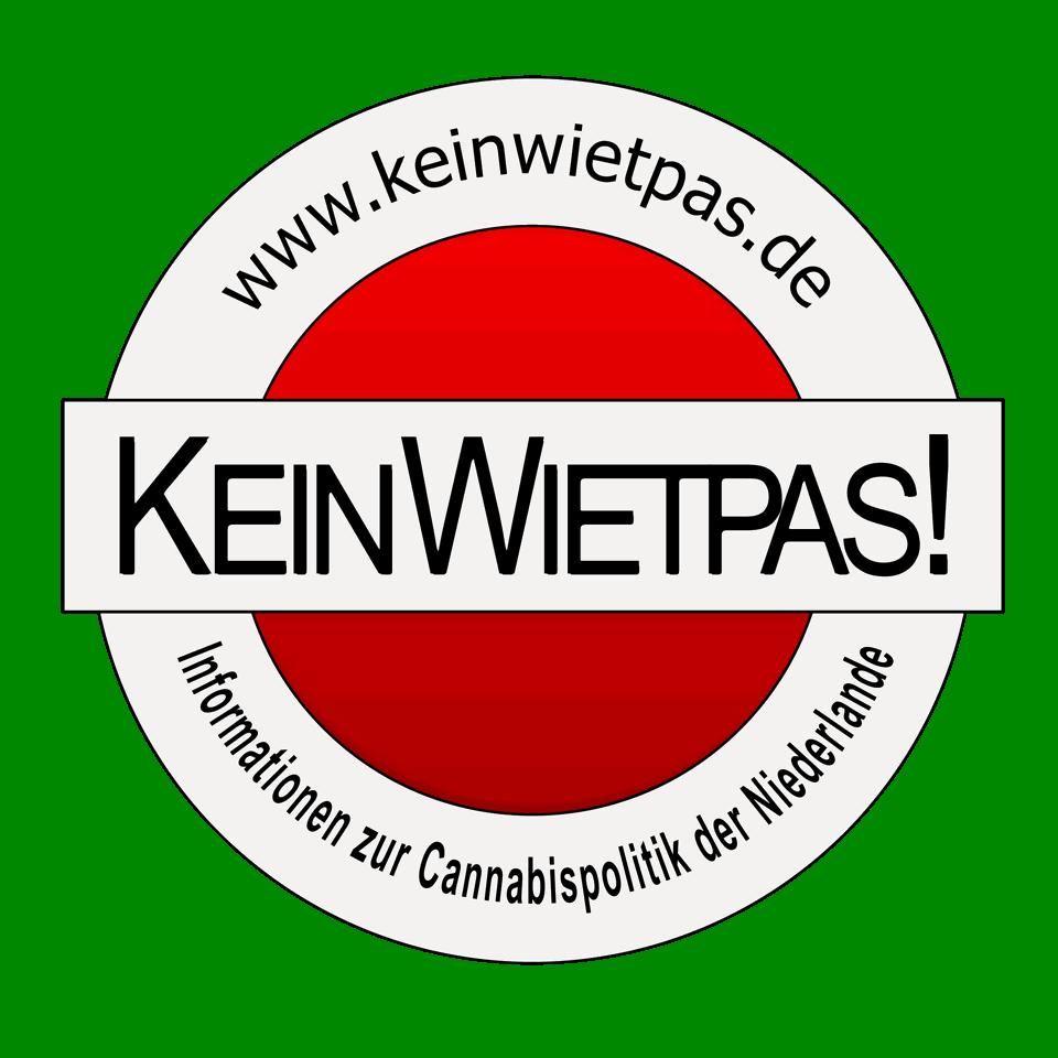 Logo von Kein Wietpas! mit der Webadresse