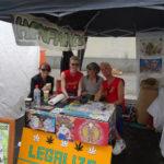 Foto vom Hanfinfostand auf dem Lesbisch-Schwulen Stadtfest