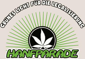 """T-Shirt-Druckmotiv """"Grünes Licht für die Legalisierung – Hanfparade"""""""