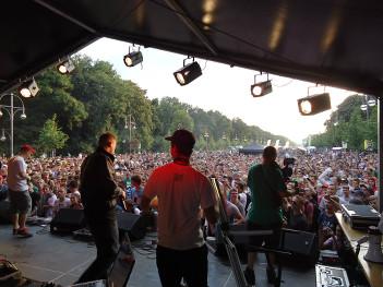 Blick von der Bühne auf die Zuschauer