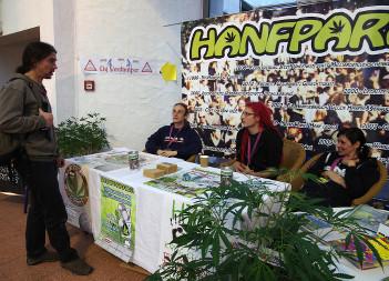 Foto vom Hanfparade-Stand auf der Cultiva 2013