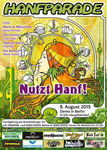 Poster der Hanfparade 2015