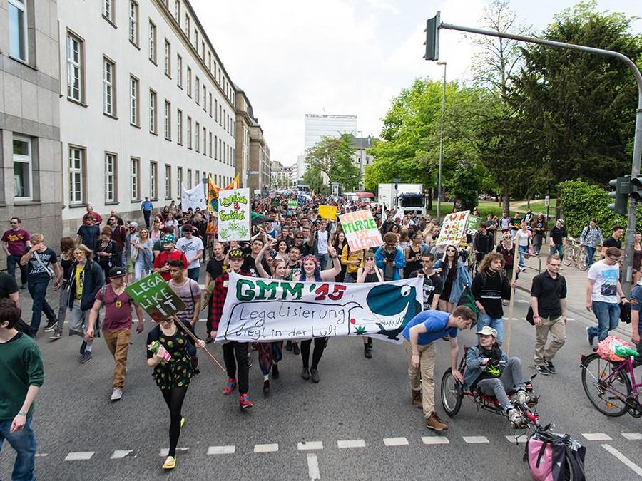 Menschenmenge bei der Demonstration
