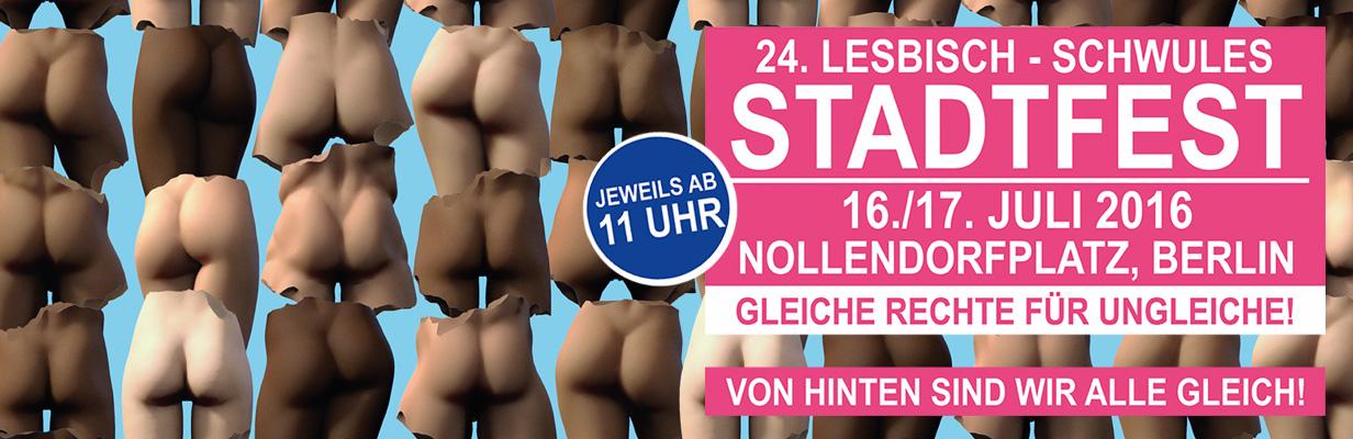 Banner zum Berliner Schwul-Lesbischen Stadtfest