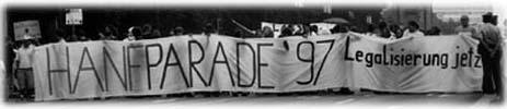 Leitbanner der Hanfparade 1997