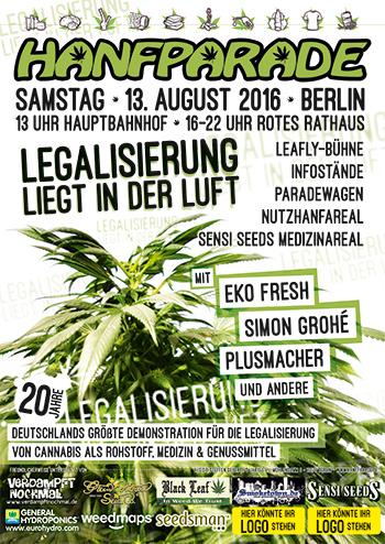 Poster Grafik der Hanfparade 2016