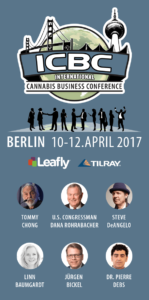 Grafik Programm zur ICBC 2017 in Berlin, International Cannabis Business Conference