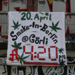 Plakat zur 4/20-Aktion Görlitzer Park, Berlin 2017