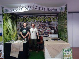 Der Hanfparade-Stand auf der Cultiva 2016