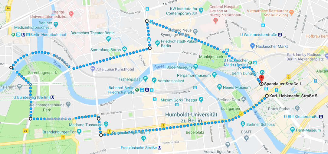Route der Hanfparade in 2018