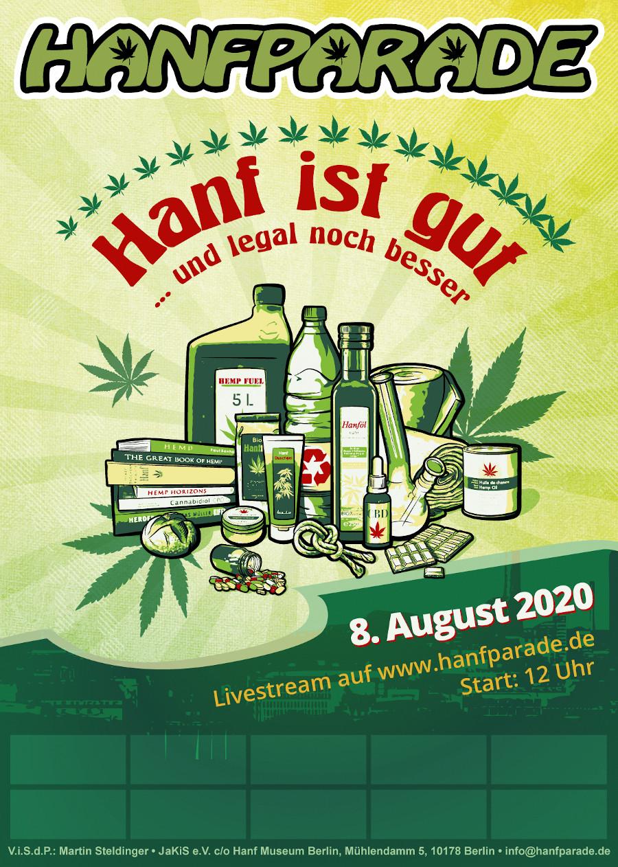 Hanfparade 2020 Poster Grafik Webvariante